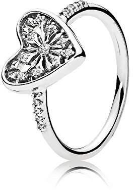 Pandora Women Silver Signet Ring - 196326CZ-56 e6Wd1