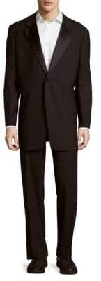 Canali Solid Notch-Lapel Suit