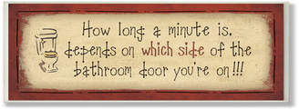 Laundry by Shelli Segal Winston Porter 'How Long a Minute' Rectangle Typography Bathroom Wall Plaque