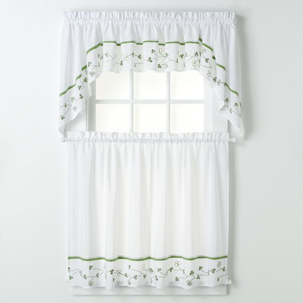 CHF & you clover swag tier kitchen curtains
