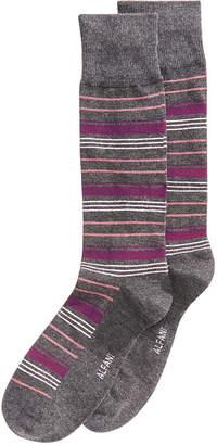 Alfani Men Variegated Stripe Dress Socks