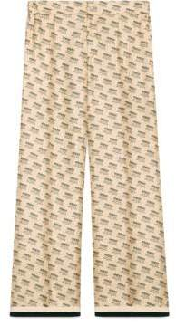 Gucci stamp silk pant