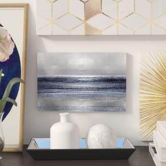 Wade Logan 'Silver Seascape III' Graphic Art Print on Canvas