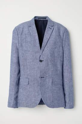 H&M Wool Blazer Slim fit - Blue