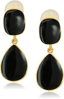 Kenneth Jay Lane Gold Enamel Drop Earrings