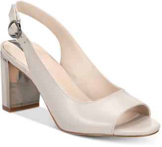 Alfani Women's Florraa Slingback Peep-Toe Dress Sandals, Created for Macy's Women's Shoes