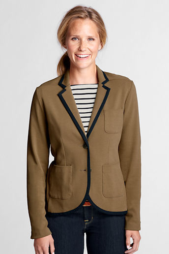Lands' End Women's Tall Milano Rib Blazer