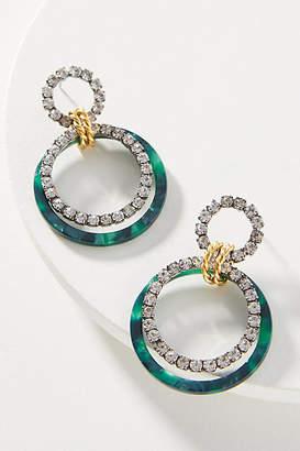 Elizabeth Cole Scarlett 24K Gold-Plated Hoop Earrings