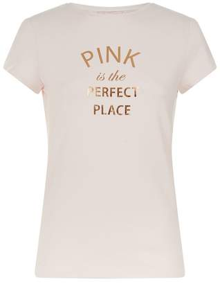 Ted Baker Molalli Future Is Pink Slogan T-Shirt