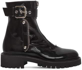 Giuseppe Zanotti Design 40mm Patent Leather Ankle Boots
