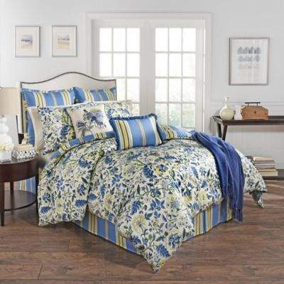 Waverly® Imperial Dress Reversible King Comforter Set in Porcelain Blue