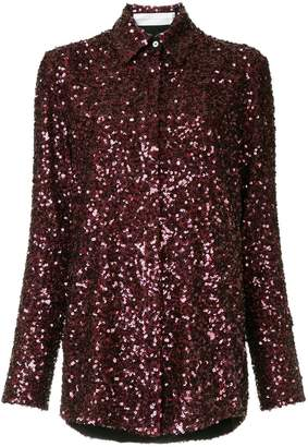 Victoria Beckham Victoria sequin embellished shirt
