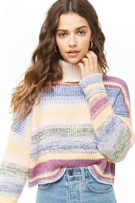 Forever 21 Marled Striped Turtleneck Sweater