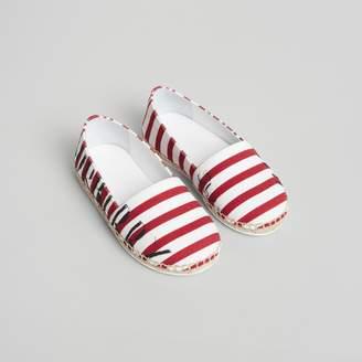 Burberry SW1 Print Striped Cotton Espadrilles