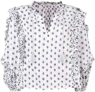 Ulla Johnson ruffled floral print blouse