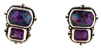 Stephen Dweck Quartz Doublet & Amethyst Clip-On Earrings