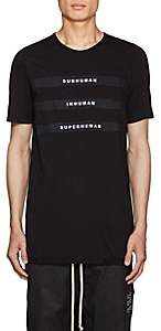Rick Owens Men's Appliquéd Cotton Jersey T-Shirt - Black