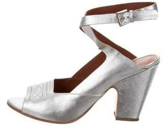 Rachel Comey Metallic Ankle Strap Sandals