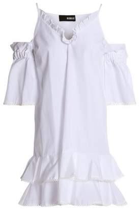 Nicholas Cold-Shoulder Ruffle-Trimmed Cotton-Poplin Mini Dress