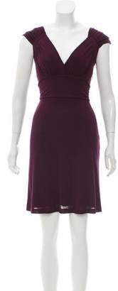L'Agence Cap Sleeve Mini Dress