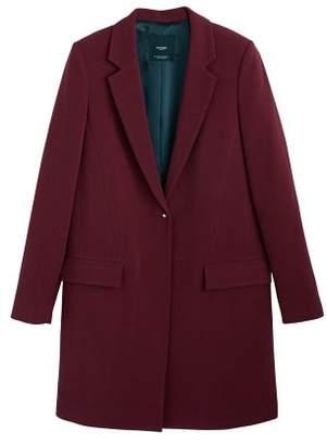 MANGO Lapels structured coat
