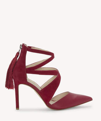 8a035c5f96 Louise et Cie Women's Jemmy Strappy Pumps Boysenberry Size 5 Leather From Sole  Society
