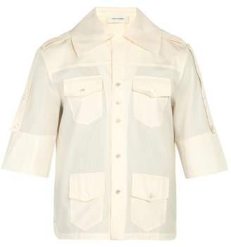 Wales Bonner Short Sleeved Cotton Shirt - Mens - Ivory