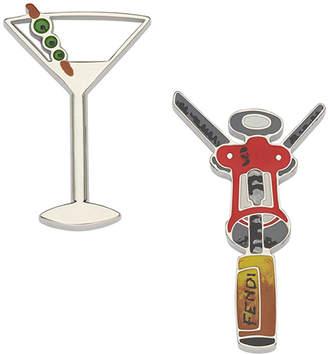 Fendi cocktail embellished brooch set