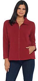 Denim & Co. Denim & Co.Fleece Long-Sleeve Zip-Front Jacket