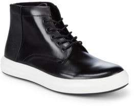 Kenneth Cole Design Leather High-Top Sneakers
