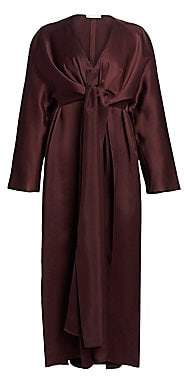 The Row Women's Clementine Satin Tie-Front Dress