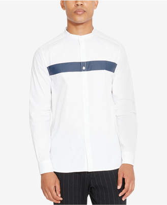 Kenneth Cole New York Kenneth Cole Reaction Men's Banded-Collar Stripe Shirt
