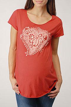 Peace Heart Maternity T-Shirt