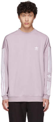 adidas Purple Lock Up Crew Sweatshirt