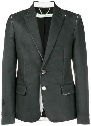 Off-White washed effect blazer