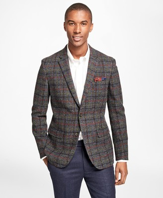 Brooks Brothers Milano Fit Harris Tweed Multi-Windowpane Sport Coat