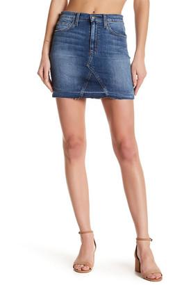 Joe's Jeans Raw Edge Denim Mini Skirt $145 thestylecure.com