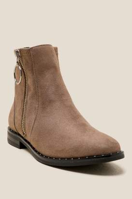 Restricted Bernice Side Zipper Ankle Boot - Taupe