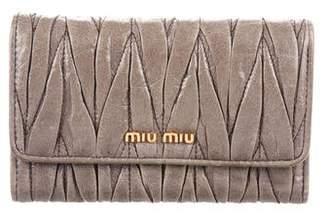 Miu Miu Matelassé Short Flap Wallet