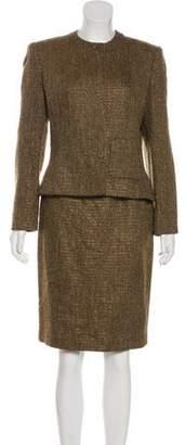 Ellen Tracy Linda Allard Tweed Skirt Set