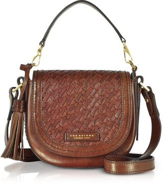 The Bridge Salinger Woven Leather Medium Shoulder Bag