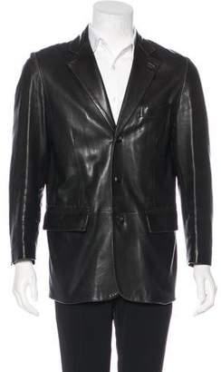 Salvatore Ferragamo Three-Button Leather Jacket