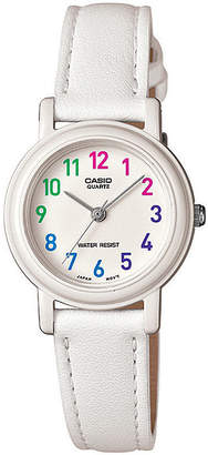 Casio Womens White Leather Strap Watch LQ139L-7BOS