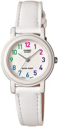 Casio Womens White Leather Strap Watch LQ139L-7BOS