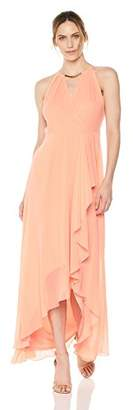 Sangria Women's High-Low Maxi Dress