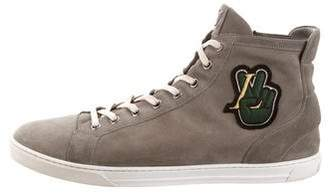 Louis Vuitton Suede Lakers Sneakers