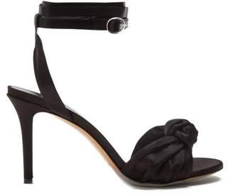 Isabel Marant Abenya Satin Sandals - Womens - Black