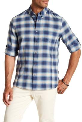 John Varvatos Plaid Trim Fit Shirt