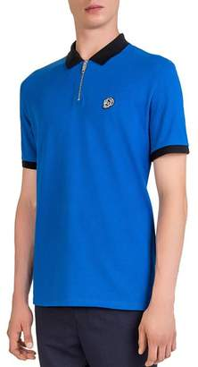 The Kooples Badge Color-Block Regular Fit Pique Polo