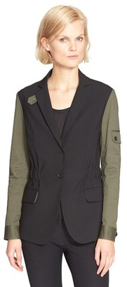 Women's Veronica Beard Army Jacket With Removable Hooded Dickey $795 thestylecure.com